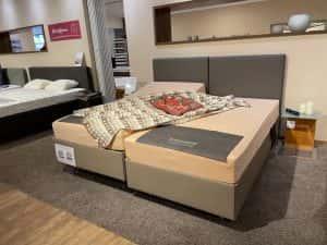 Kichner Boxlike Bett Höhenverstellung mit abwaschbarem Stoff